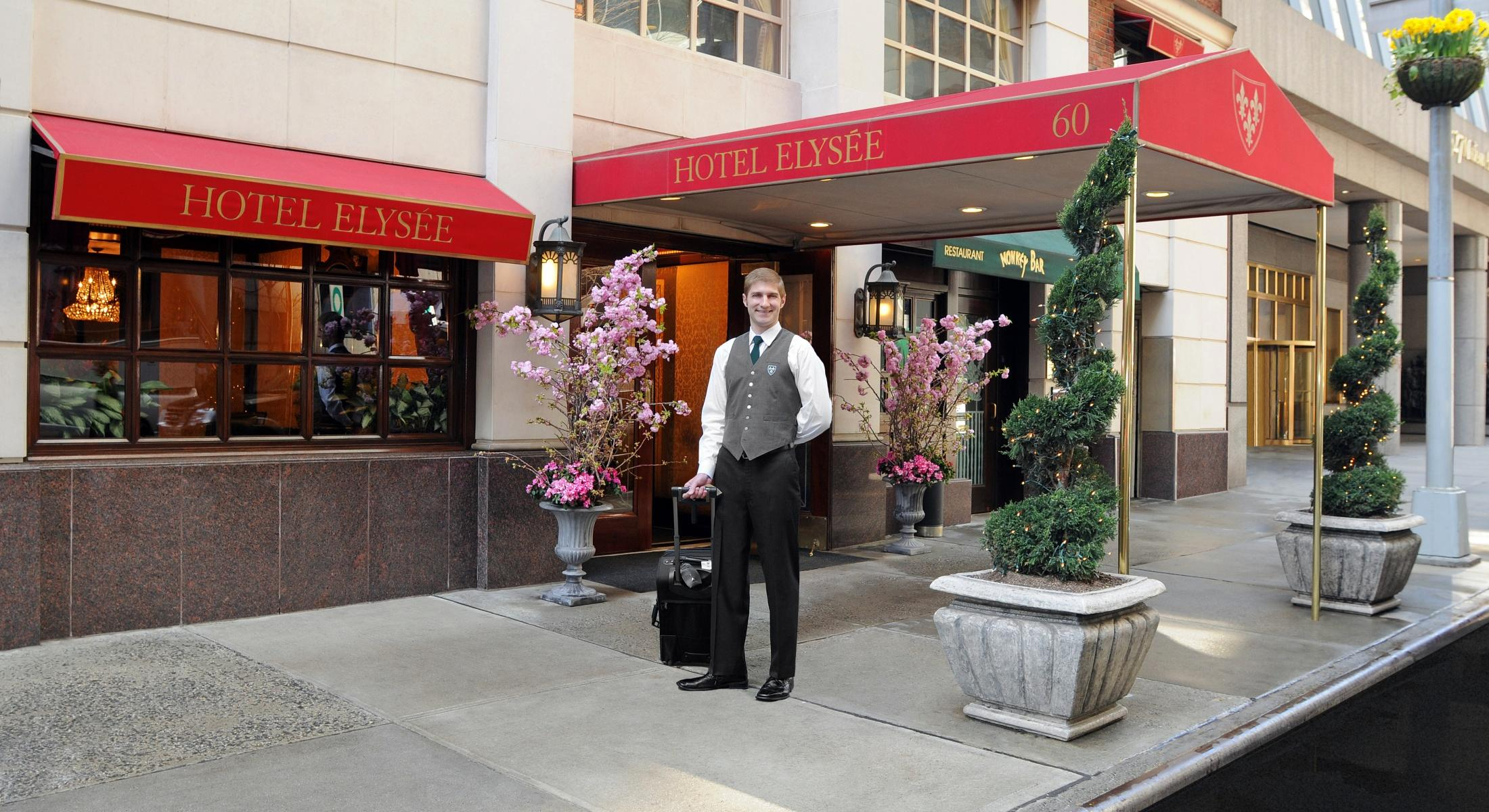 The Hotel Elysée is located on East 54th Street between Park and Madison Avenues.