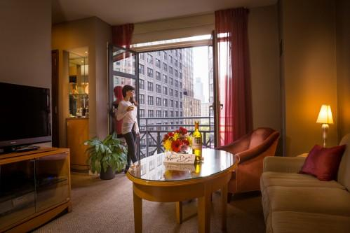 Balcony King Suite overlooking Park Avenue South