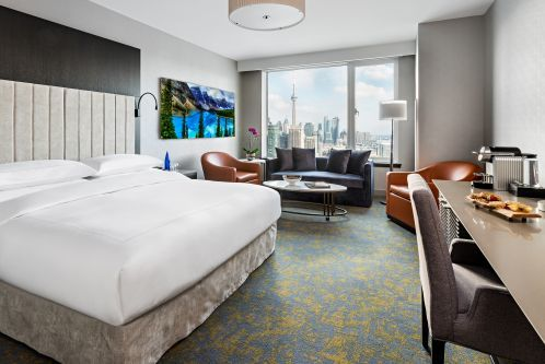 Signature King Room with a Sofa Bed and City Views