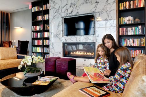 Enjoy a book from the Library in the Library Club Lounge