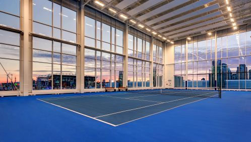 Tennis Courts at 10XTO with Sunset Views
