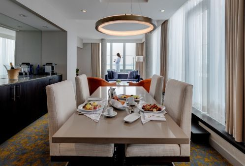 Breakfast Set Up in a Suite at Hotel X Toronto