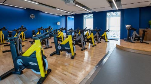 10XTO's Spin Studio with Views of Tennis Courts
