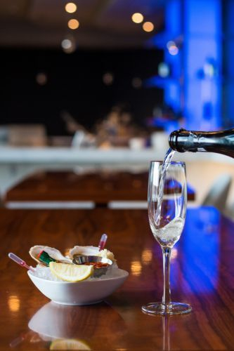Enjoy Champagne & Oysters at the Lobby Bar