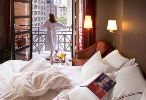 Our Balcony King Guestroom all have charming Juliet Balconies overlooking Park Avenue South!