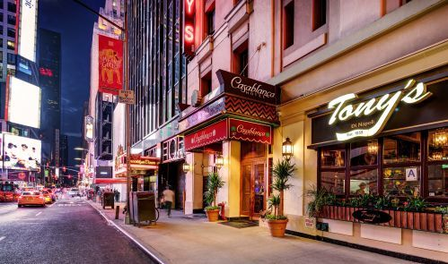 The Casablanca Hotel is located in the heart of Midtown Manhattan on 43rd St, just off Broadway!